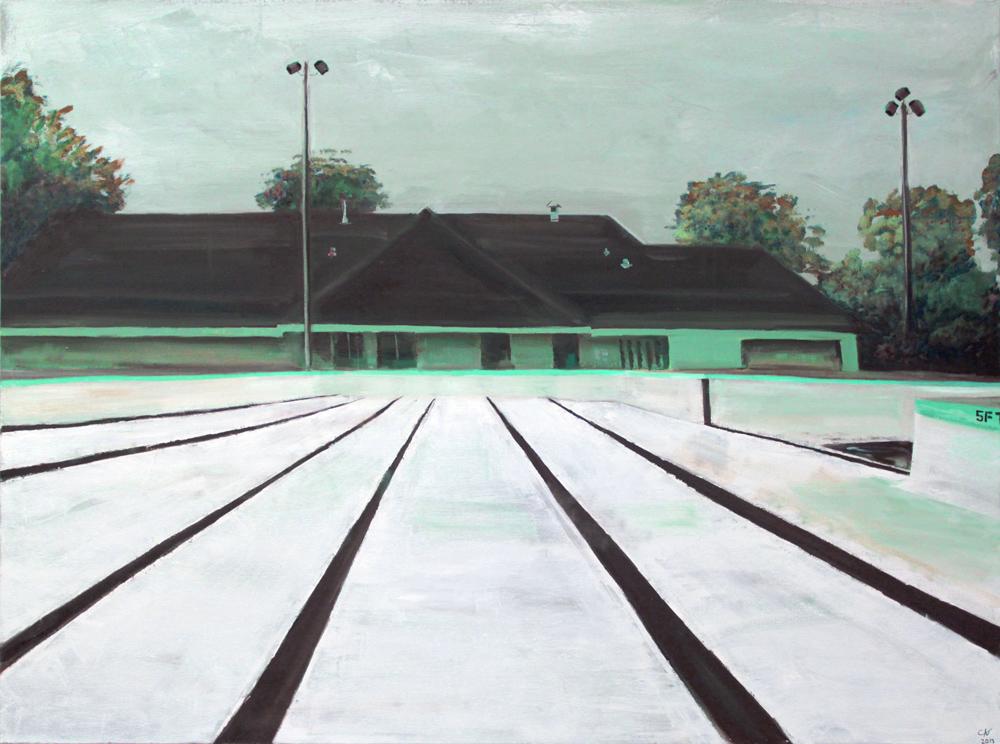 Public Pool, 2013 Oil on canvas