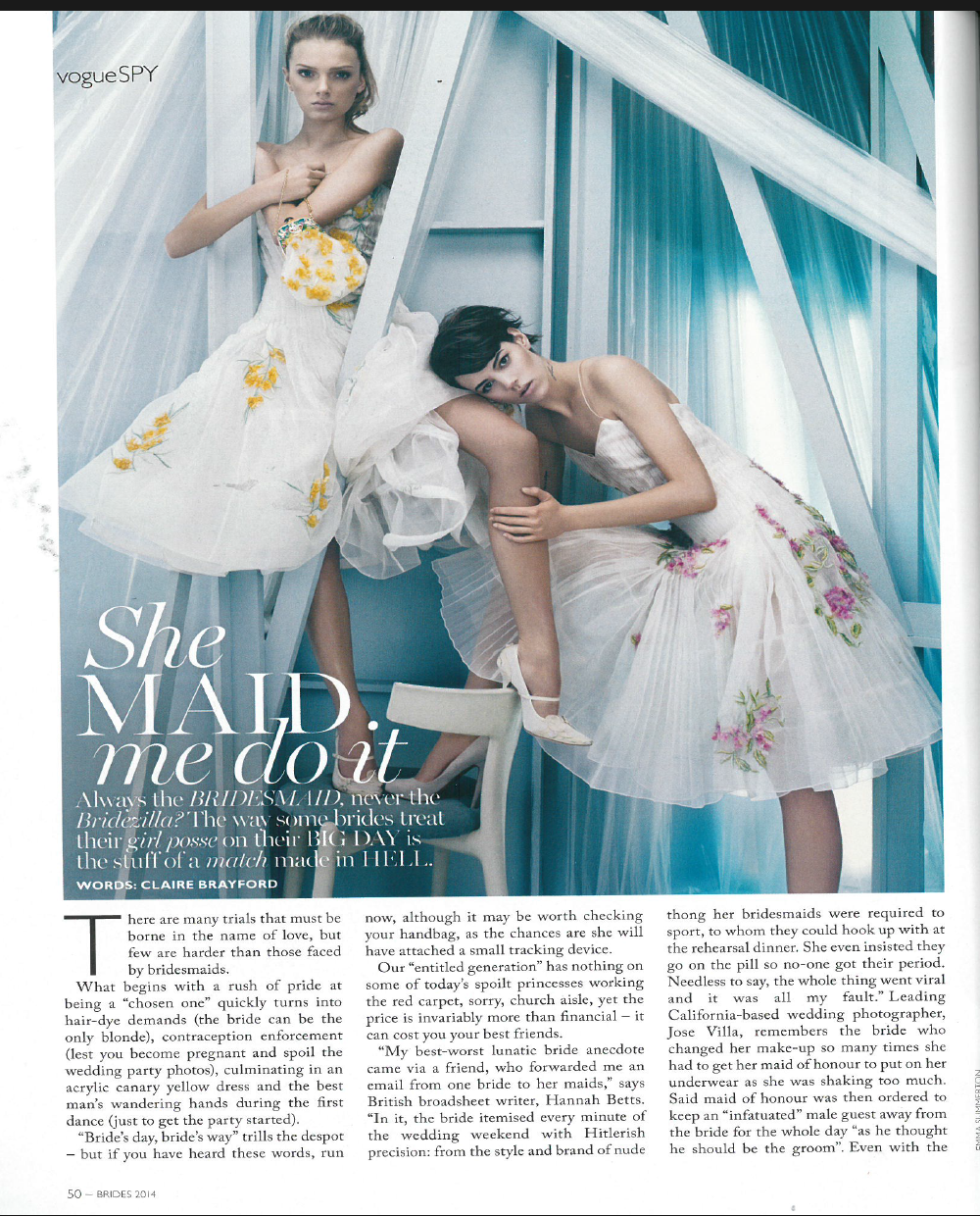 Vogue Australia bridal supplement