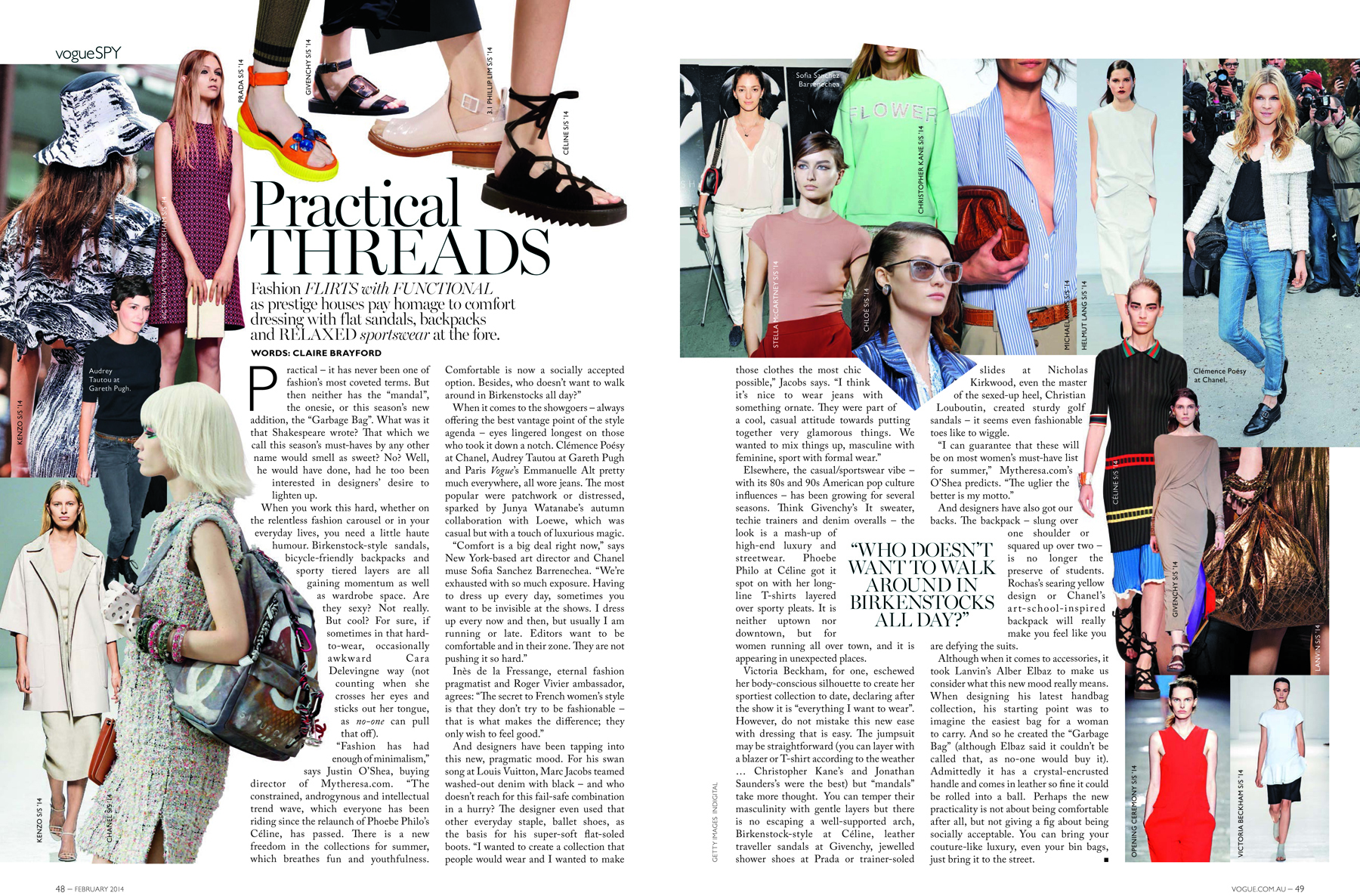 Vogue Australia - Practical fashion trend report
