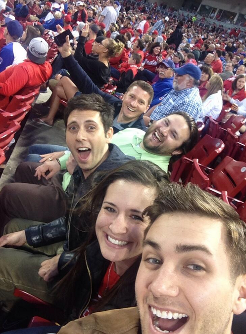We also had the chance to go to a Cincinnati Reds game -- a first for most of us on the Updater team!
