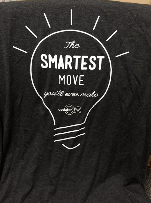 """Says our friend,  Elliot Pappas , of  booj : """"How fricken cool is this shirt I got today. Thank you and what a great company and a new member of the Enterprise Network Partner Program."""""""
