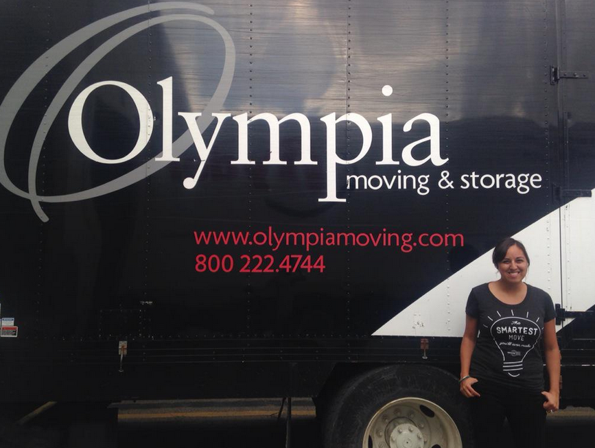 """Says our client,  Olympia Moving and Storage  in MA and VA, """"We love working with you! The smartest move you'll ever make!"""""""