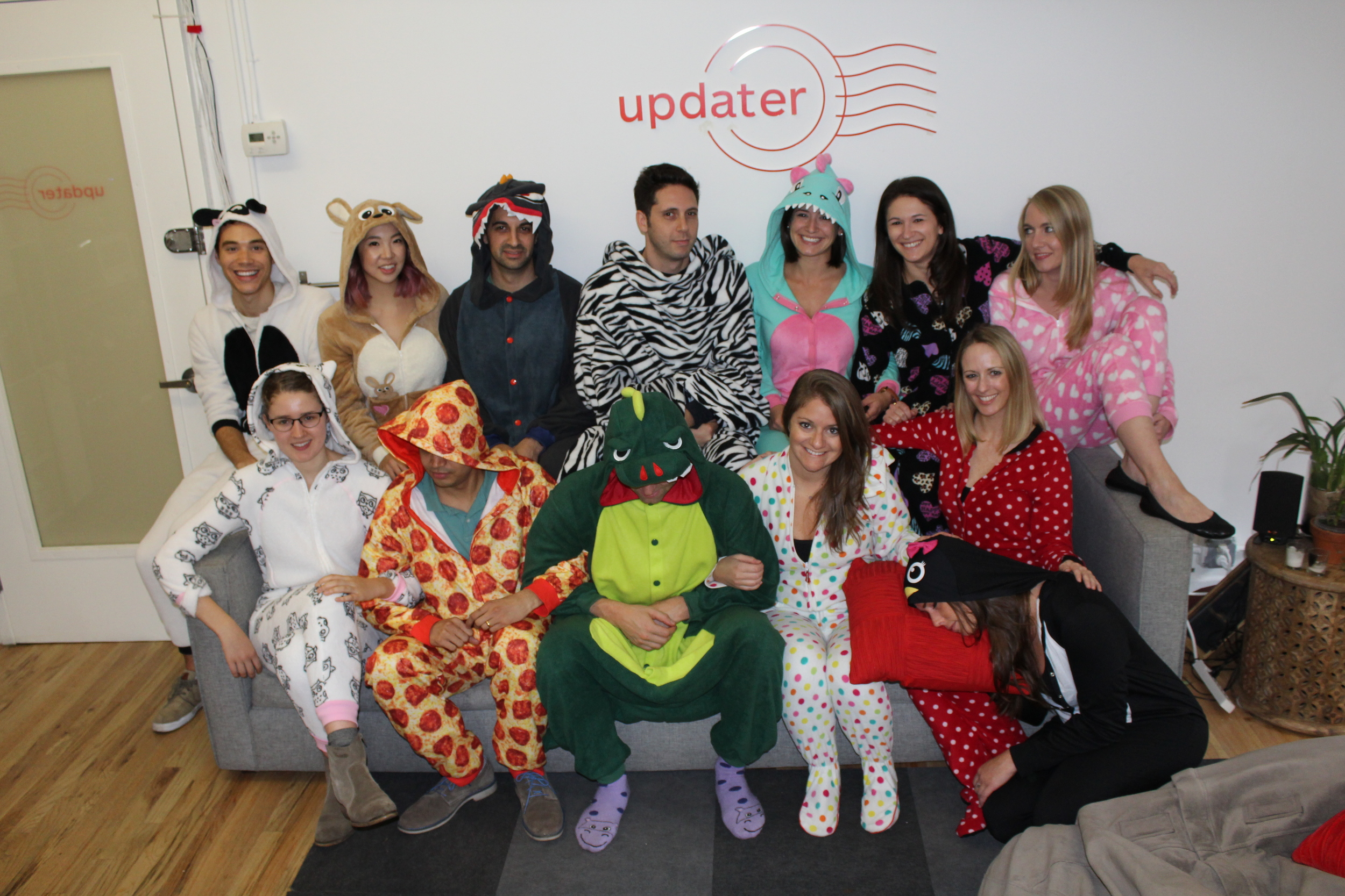 Most of our NYC team joined in! We're partial to the pizza getup in the front row.