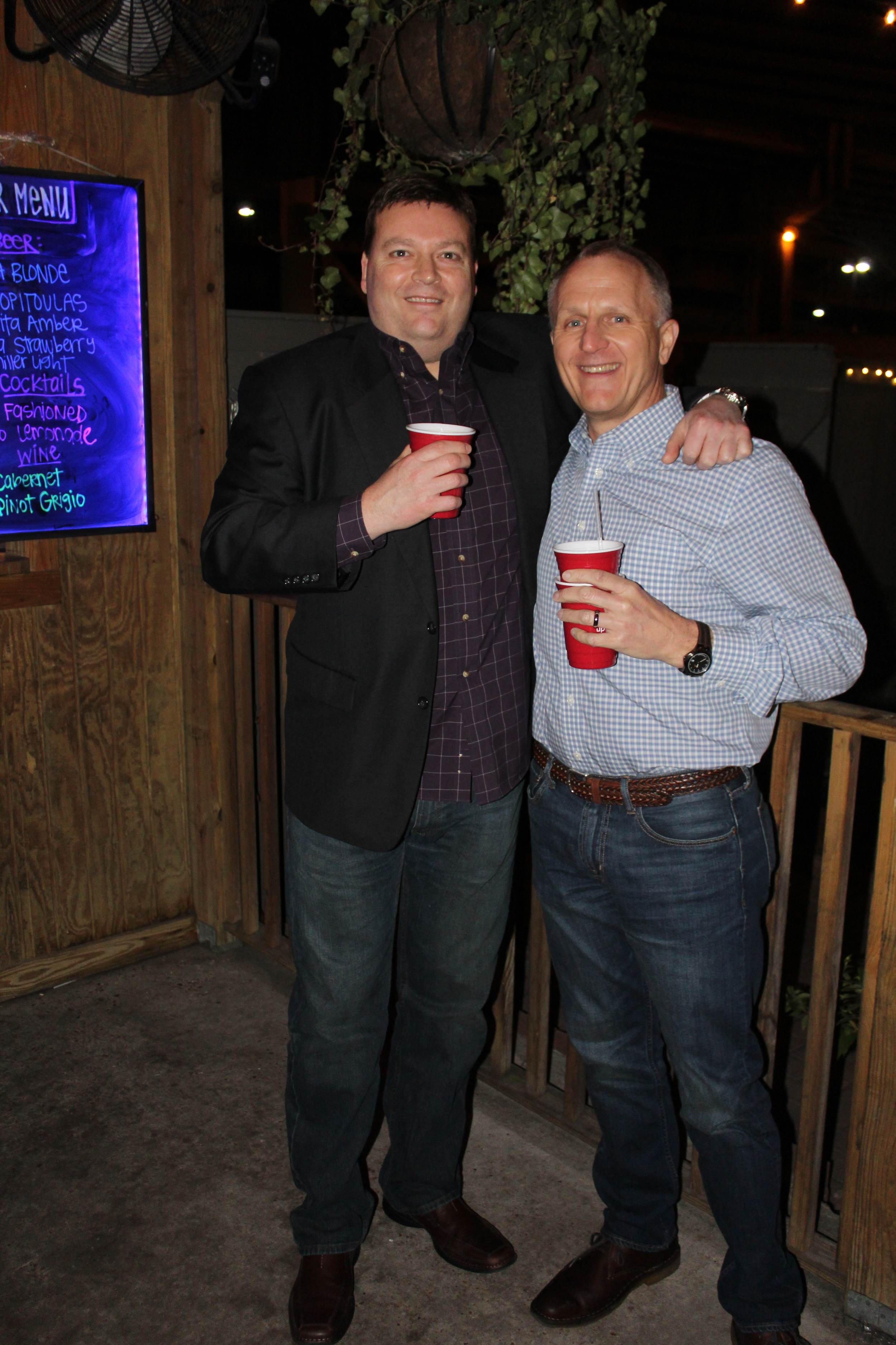 Updater's Michael Clarner with friend and partner,Allan Lamar, of EWS Group