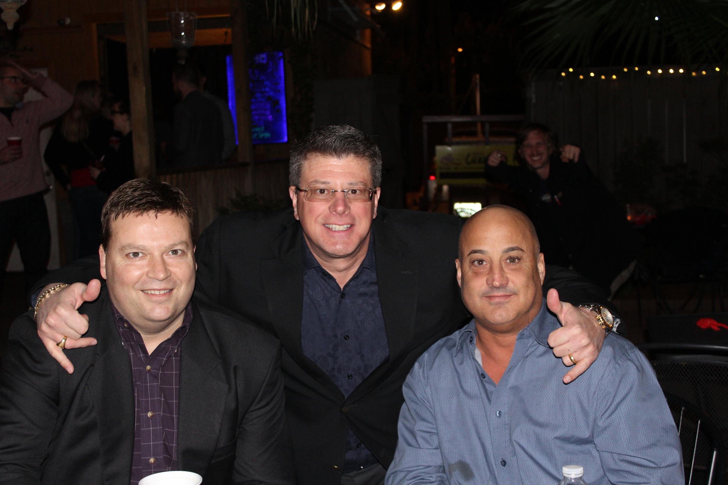 Updater's Michael Clarner, alongside Arpin's Marco Uriati and Richard Travisono