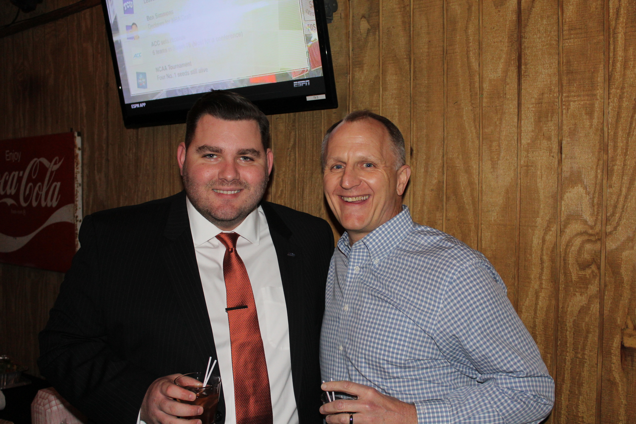 Forward Relocation's Ben Cross at Updater's Crawfish Boil with EWS Group's Allan Lamar