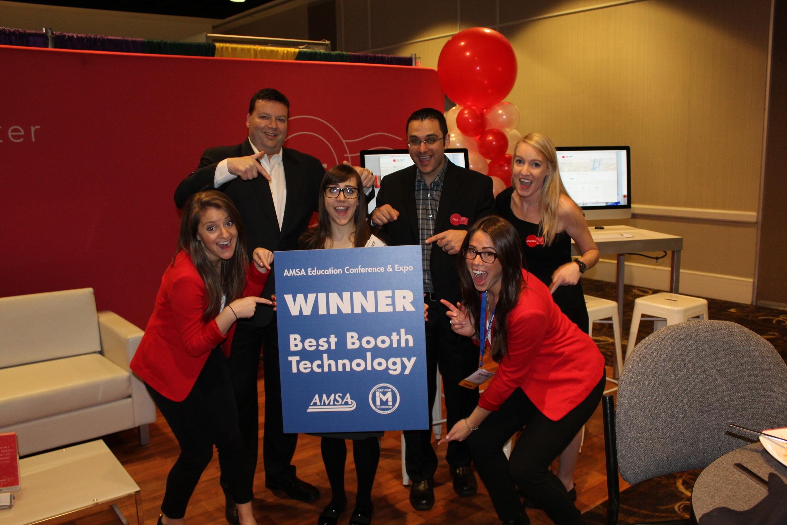 Updater wins Best Booth Technology Award