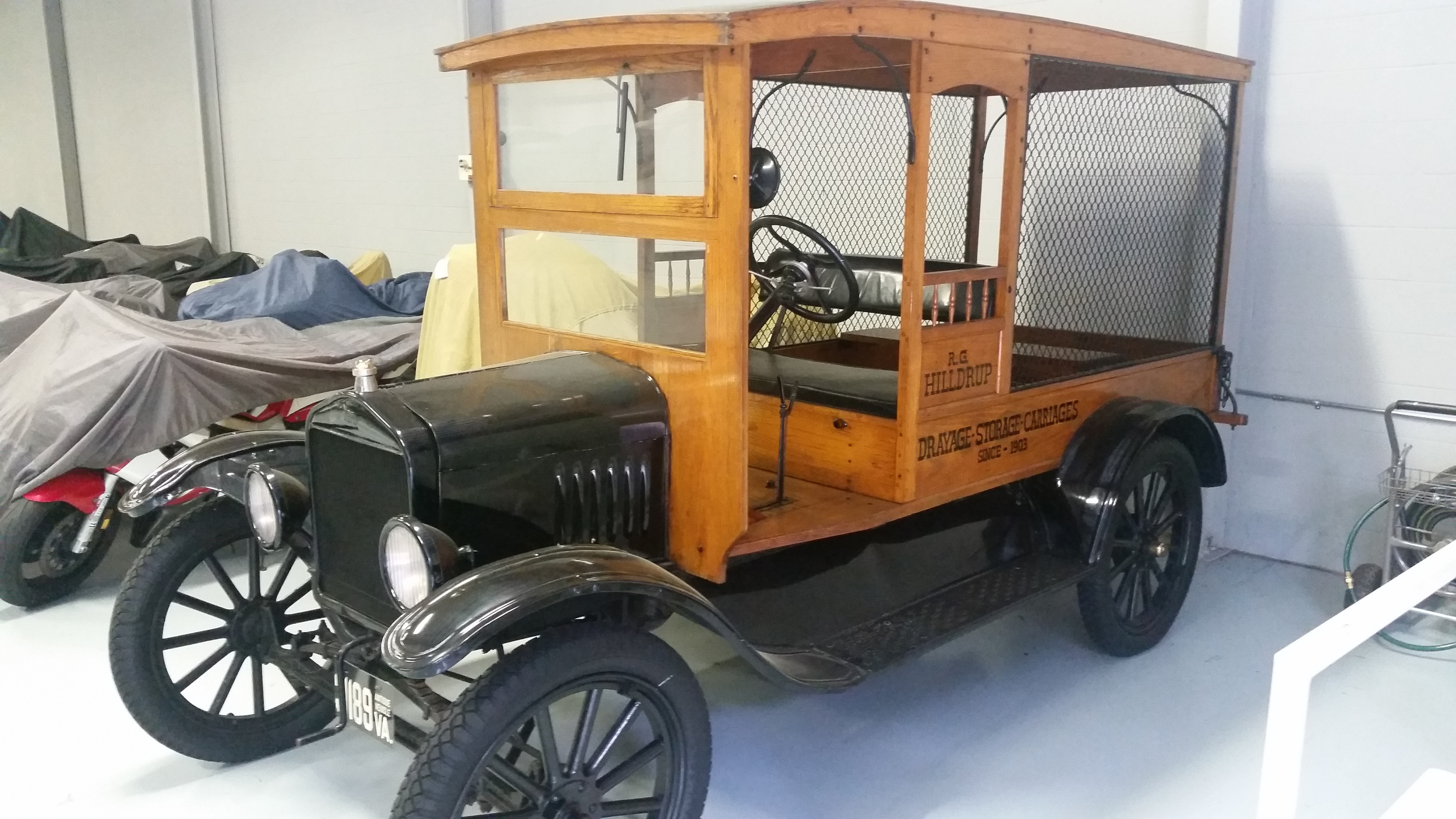 One of Hilldrup's first moving trucks