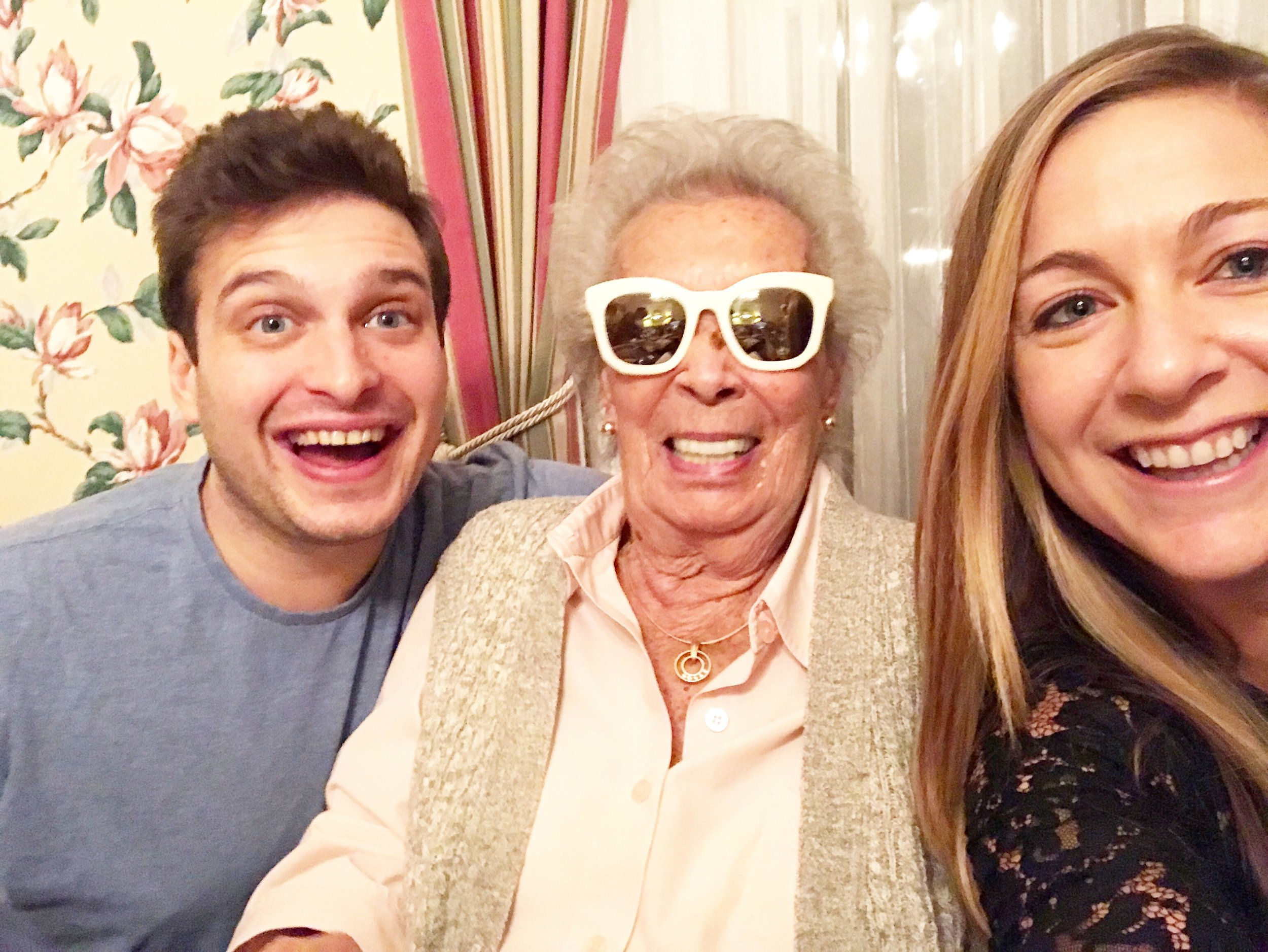 Lindsey with her grandma and cousin.