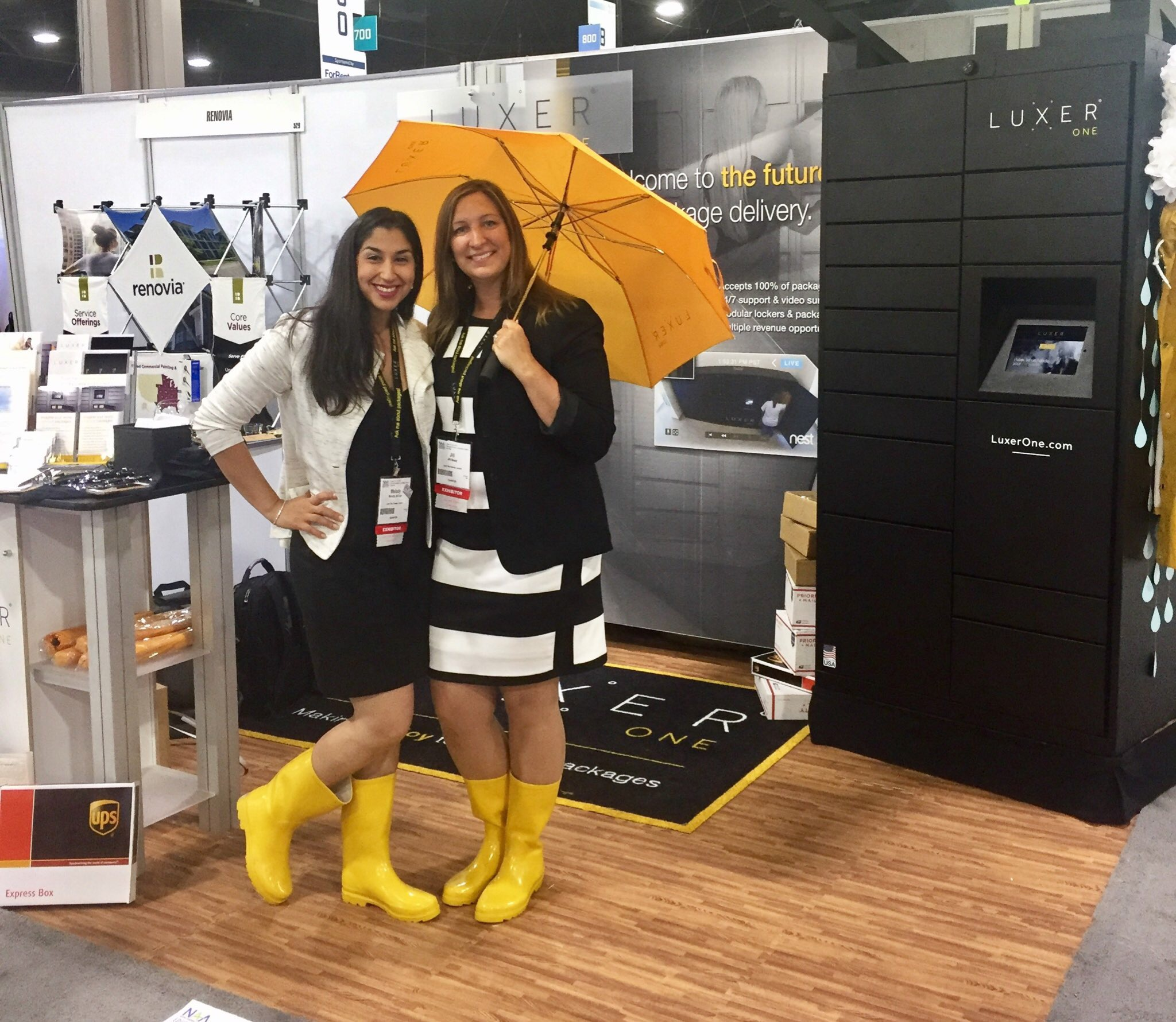 Our friends,  Luxer One , debuting their awesome outdoor storage lockers