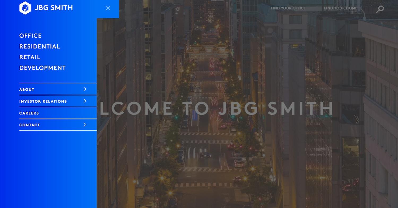 jbg website - best property management website designs