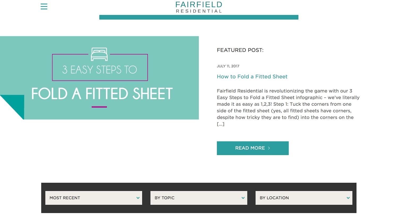 fairfield residential website - best property management website designs