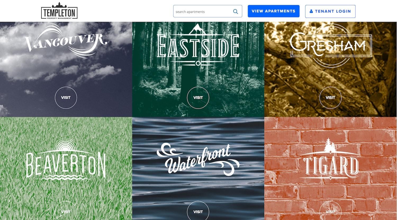 templeton management - best property management website designs