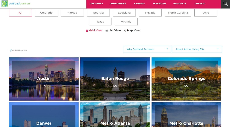 cortland partners website - best property management website designs