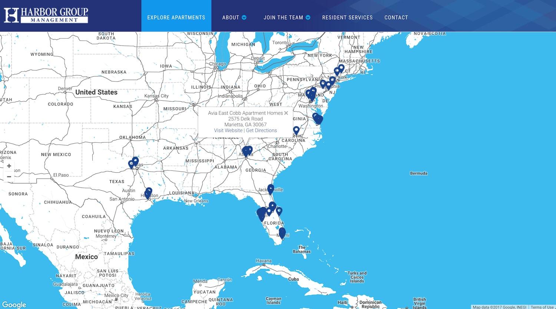 harbor group website - best property management website designs