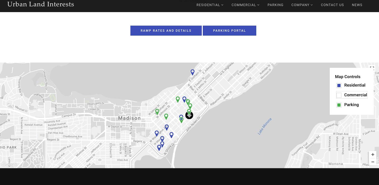 urban land interests website - best property management website designs