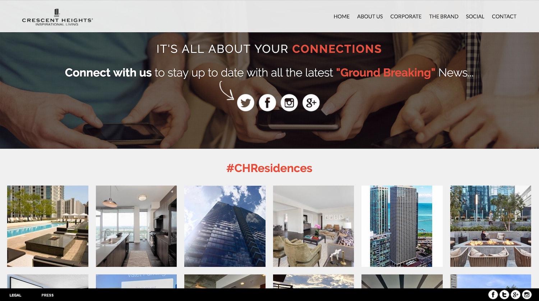 crescent heights - best property management website designs