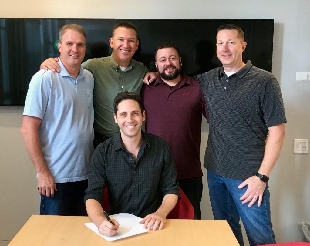 Updater CEO, David Greenberg, with the MoveHQ Leadership Team:Steve Lassanske,Joe Bippen,Tyson McTear, and Brian Ferguson.