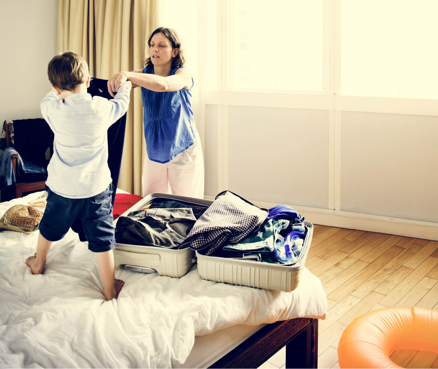 kid packing - tips for moving with kids