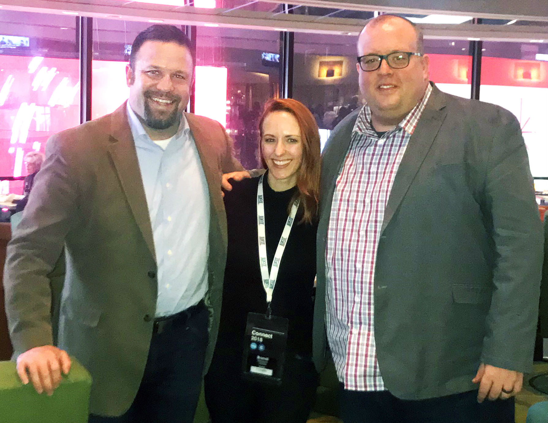 Chris Avery, Brandi Whitlock, and Greg Hicks attend Inman Connect NY 2018.