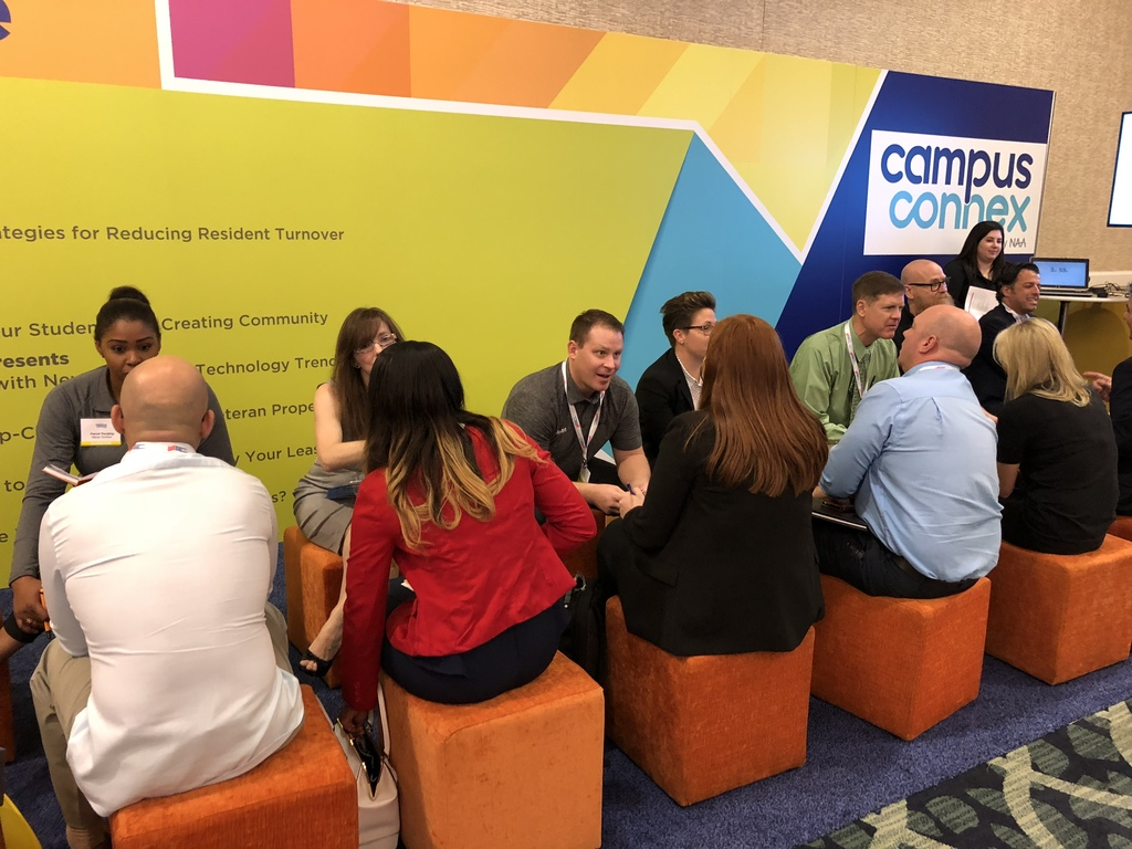 Updater's Jake Johnson at a speed networking event at Campus Connex.