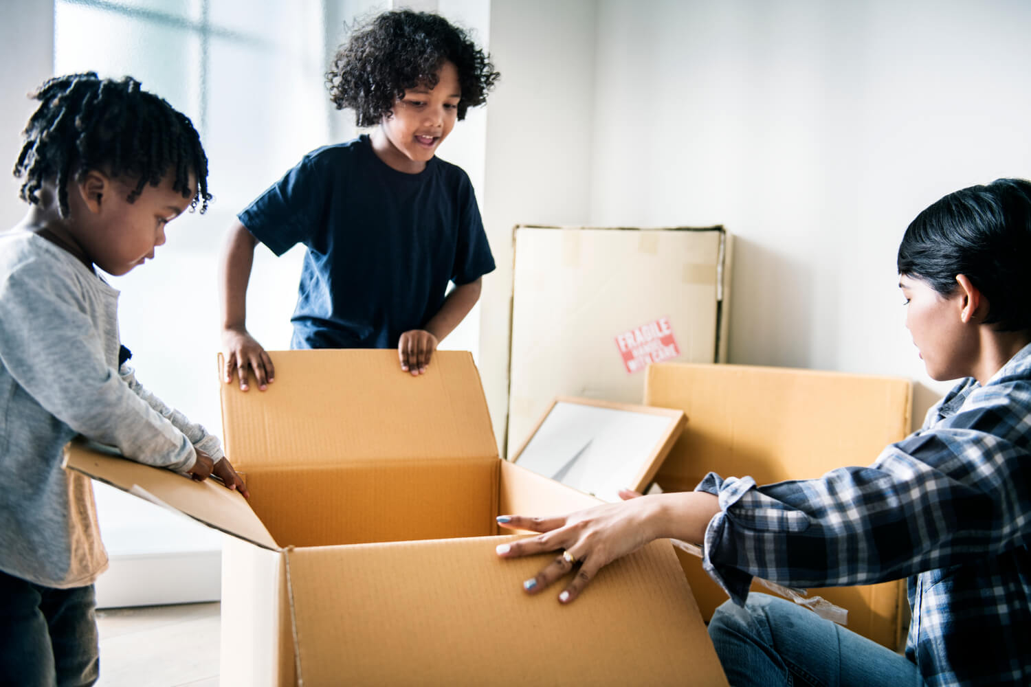 kids with box - in home estimate