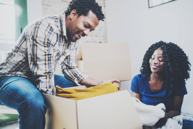 couple unpacking - in home estimate