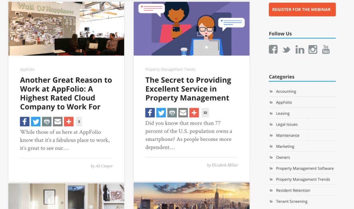 appfolio blog - top property management blogs