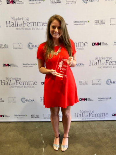 Jenna Weinerman at the Hall of Femme award ceremony