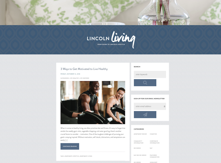 Property management company  Lincoln Property Company's blog
