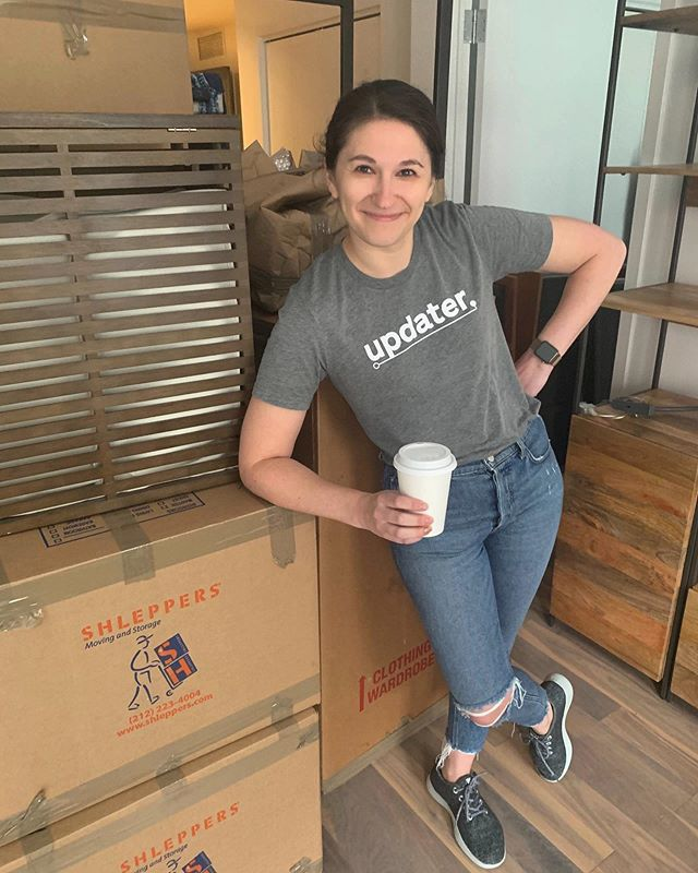 Shoutout to our very own @gretchalt for moving this past weekend! 📦Of course, using Updater always makes things a bit easier 💪