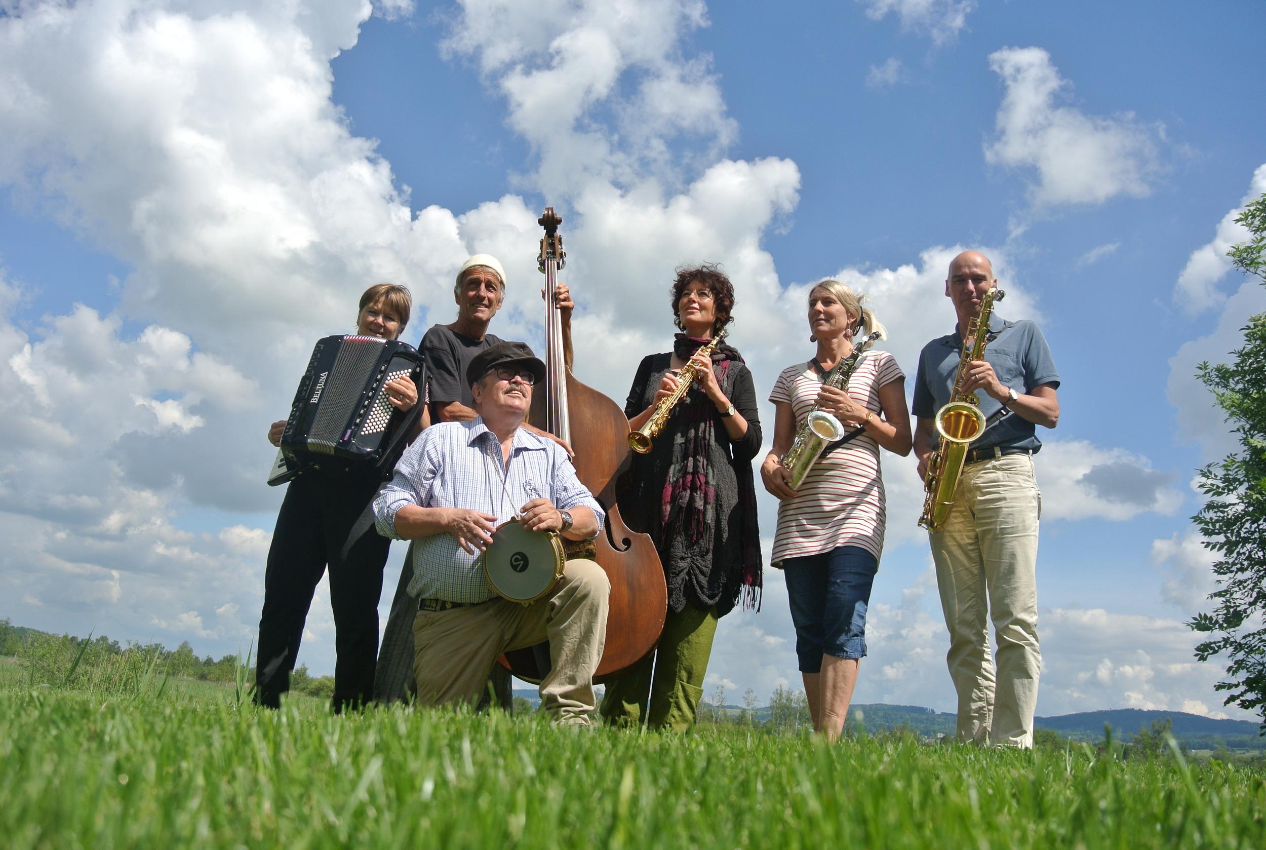 Kafilutz (v.l.n.r.): Eva Pieth, Lucius Sigrist, Sigi Nagel, Barbara Camenzind, Doris Hertig und Andi Lutz