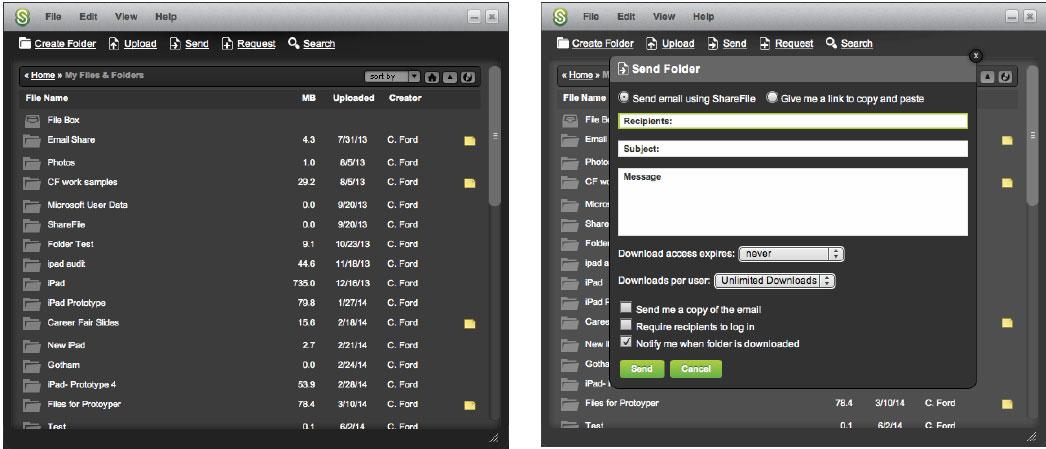 Desktop Widget for both Mac & Windows platforms (2014).