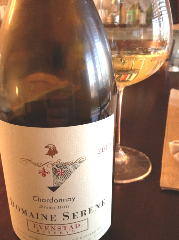 Domaine Serene with glass