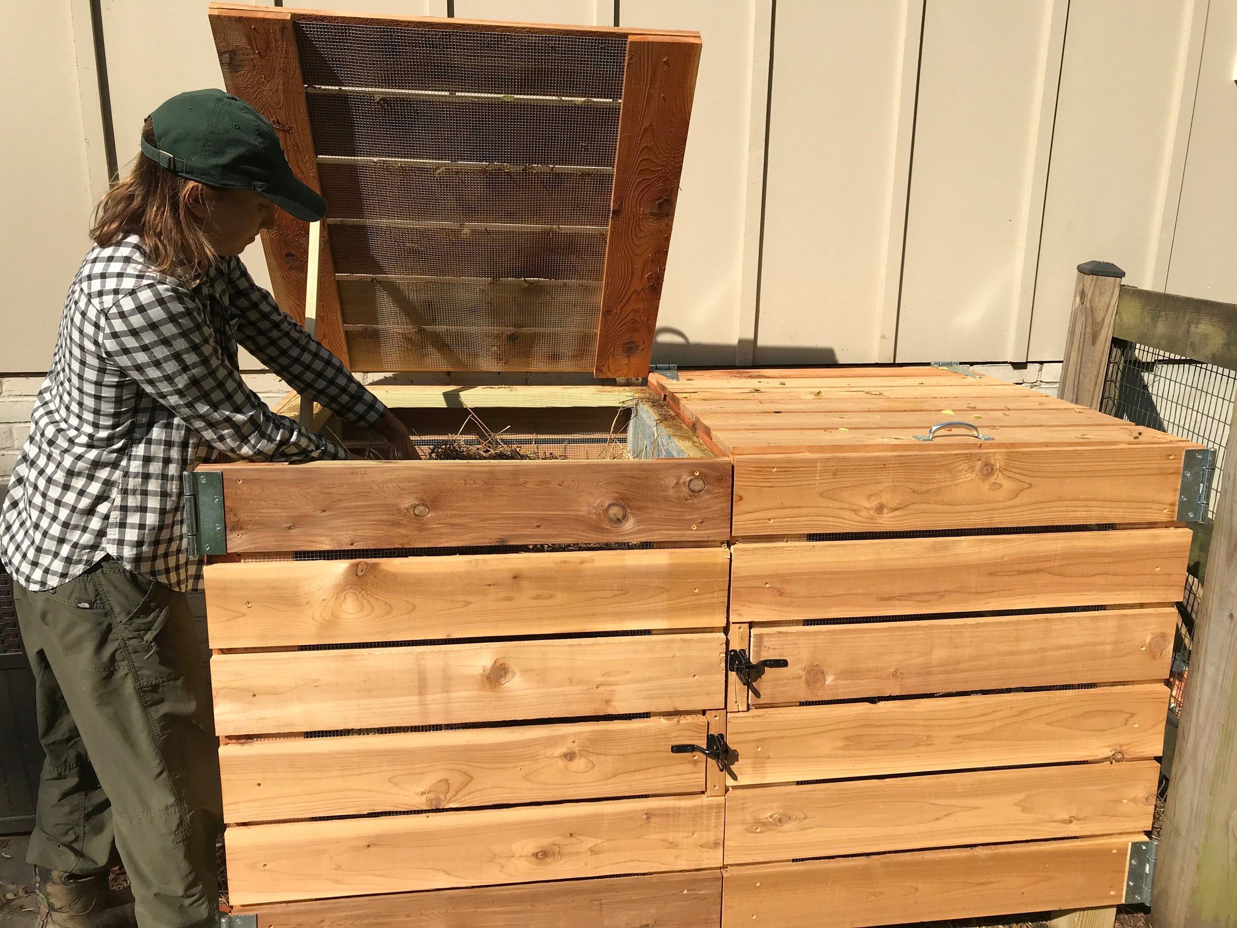 Edible Eden's two bin aerobic composter