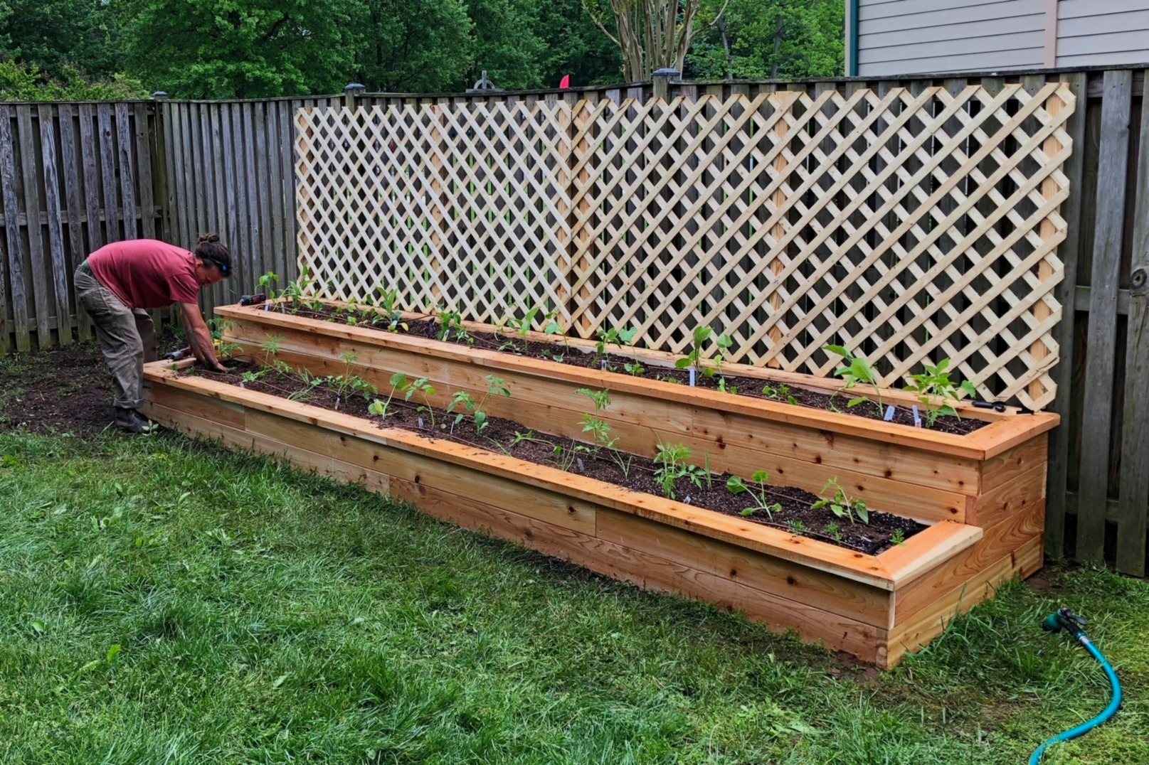 Two Tiered raised bed