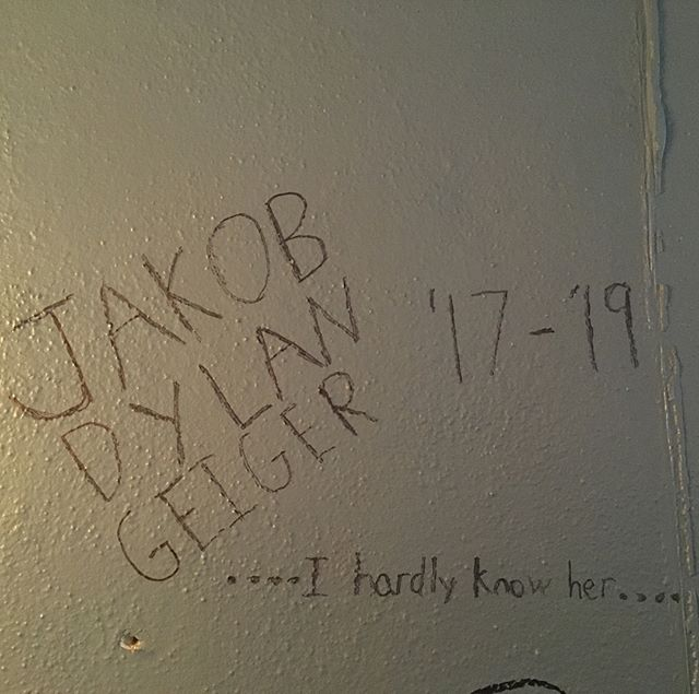 Signing the wall! Jakob we will love and miss you