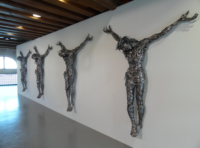 "Sculpture at ""Prima Materia"" show in Venice, 2013"