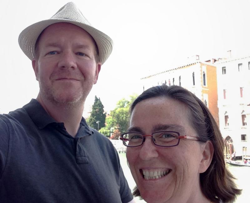 Margot and Robert Kelley, Venice 2015