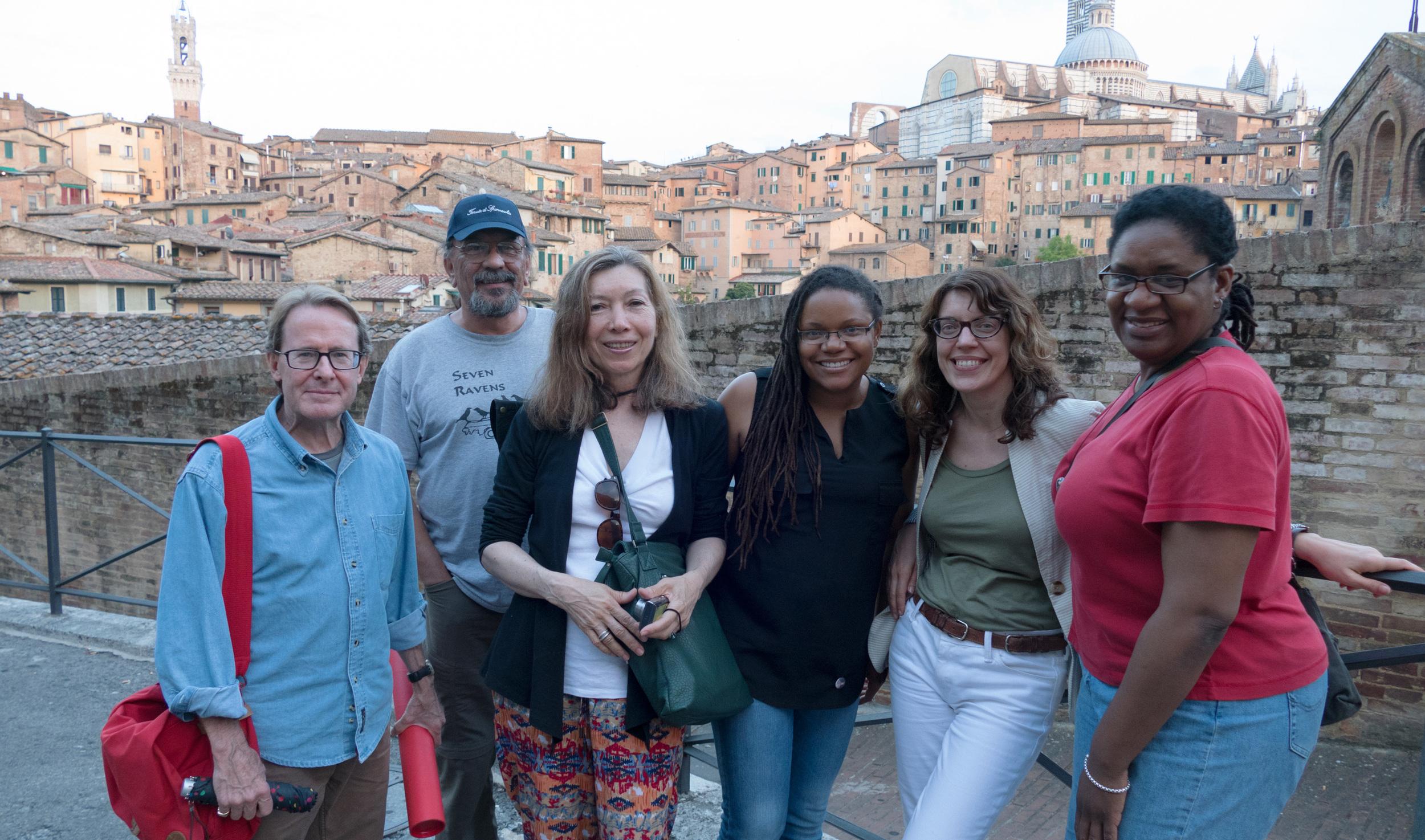 From left to right – Christopher Huck '15, Joseph Keenan '15, Liza Papi '14, Zoma Wallace (David Driskell Fellow '15), Simonetta Moro (Director of IDSVA), Kaneem Smith '15