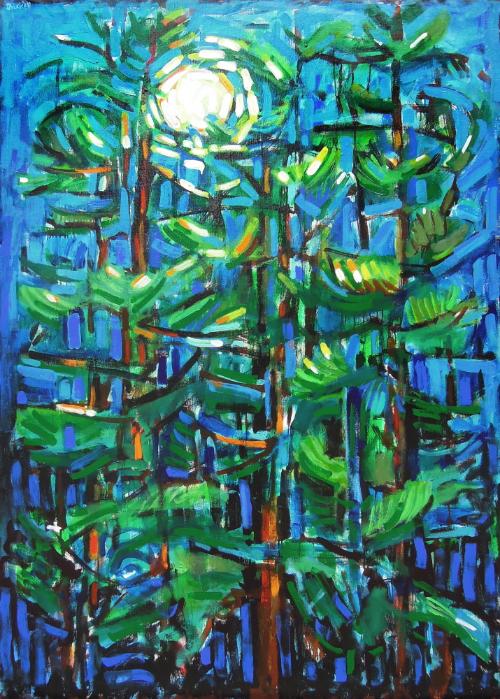 Night Light Pines, David Driskell