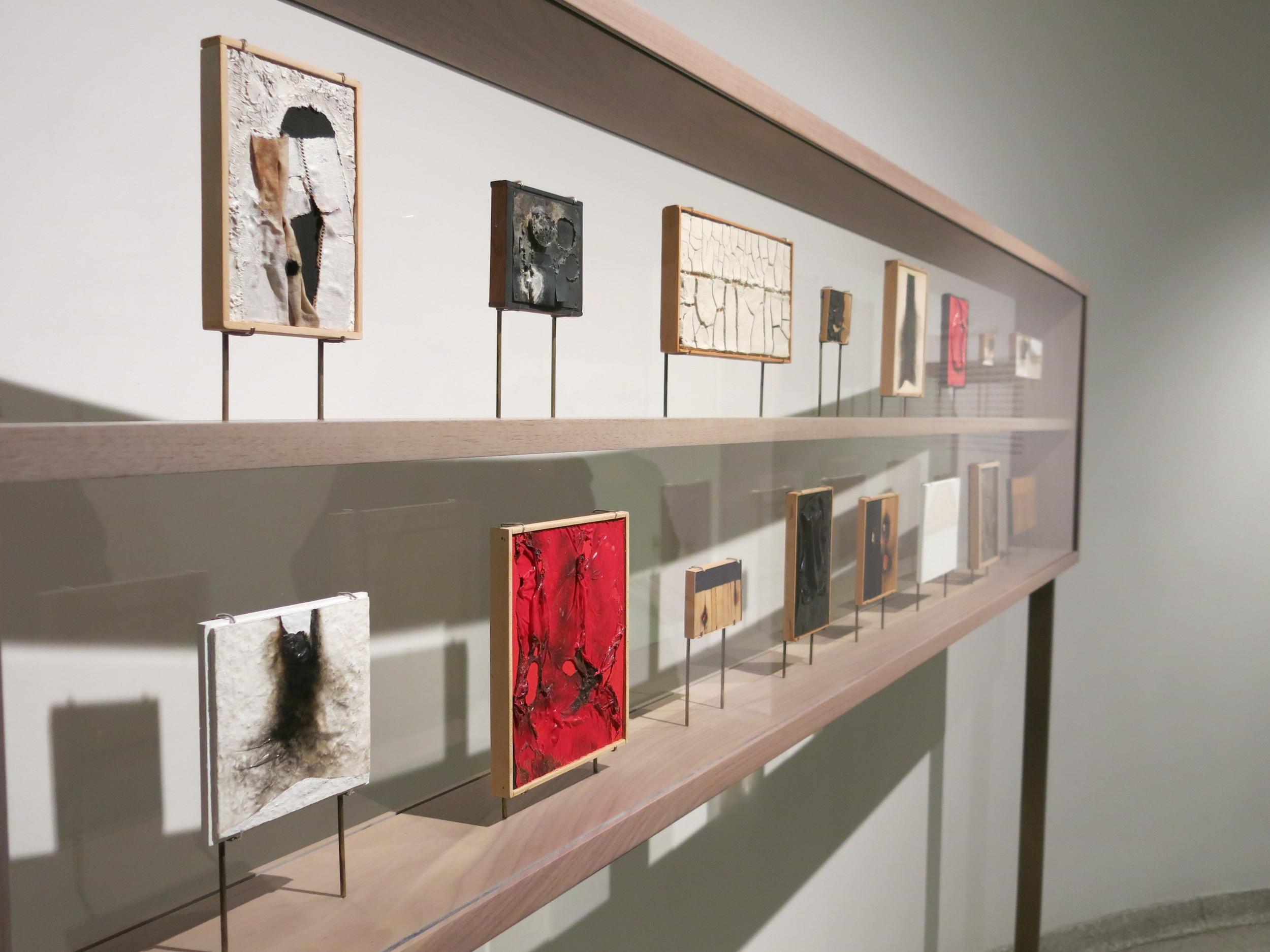 Aberto Burri's Miniature Sketches. Photo by Gabriel Reed
