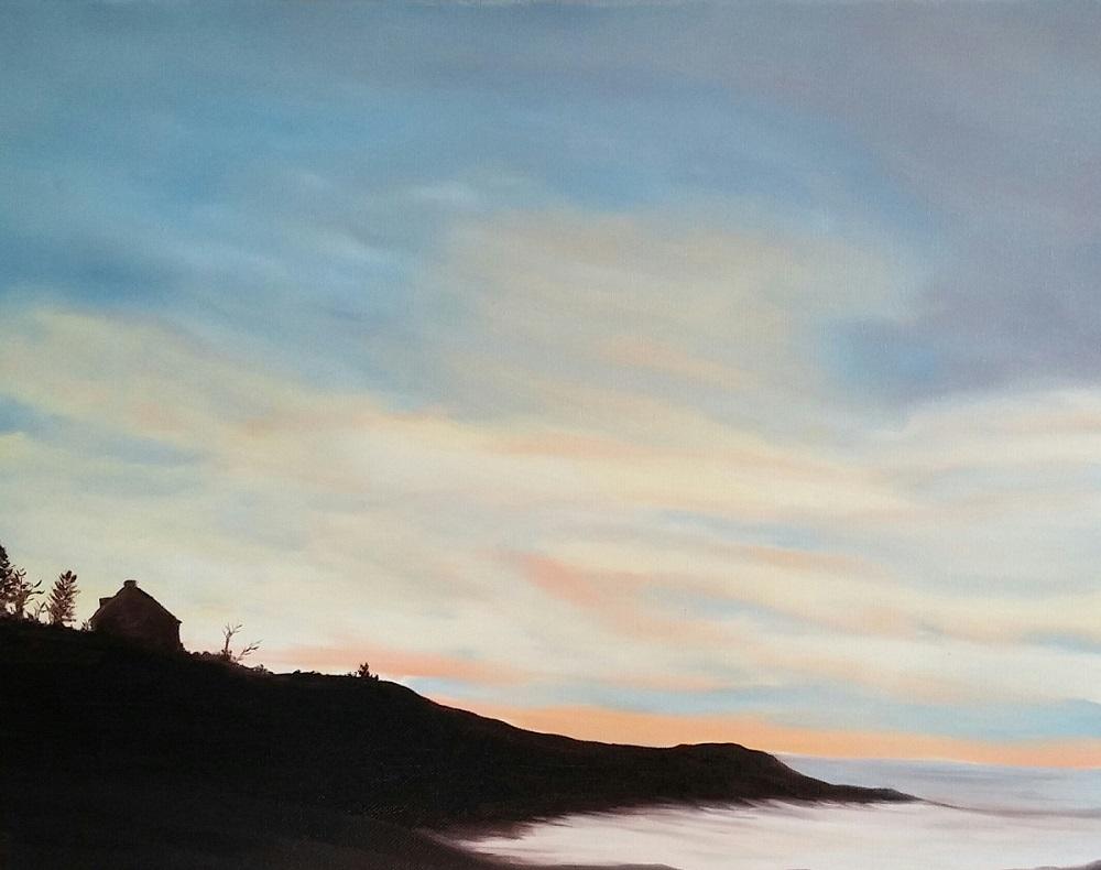 """Gloucester Dawn , oil on canvas, 16""""x20"""""""