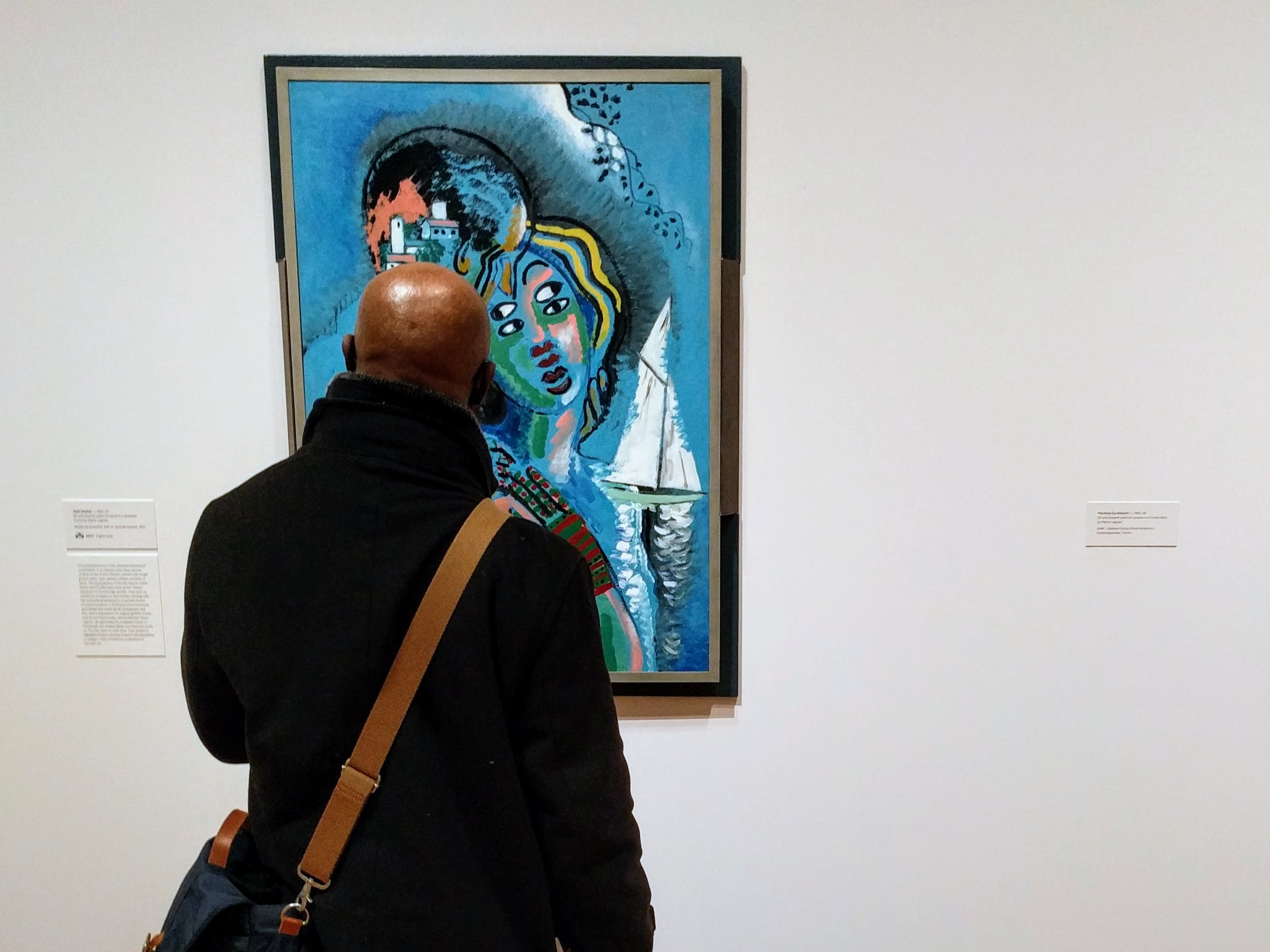 IDSVA student George Orwel with Picabia's  Idyll , 1925-27, New York Residency, 2017. Photo by Jonathan Morgan