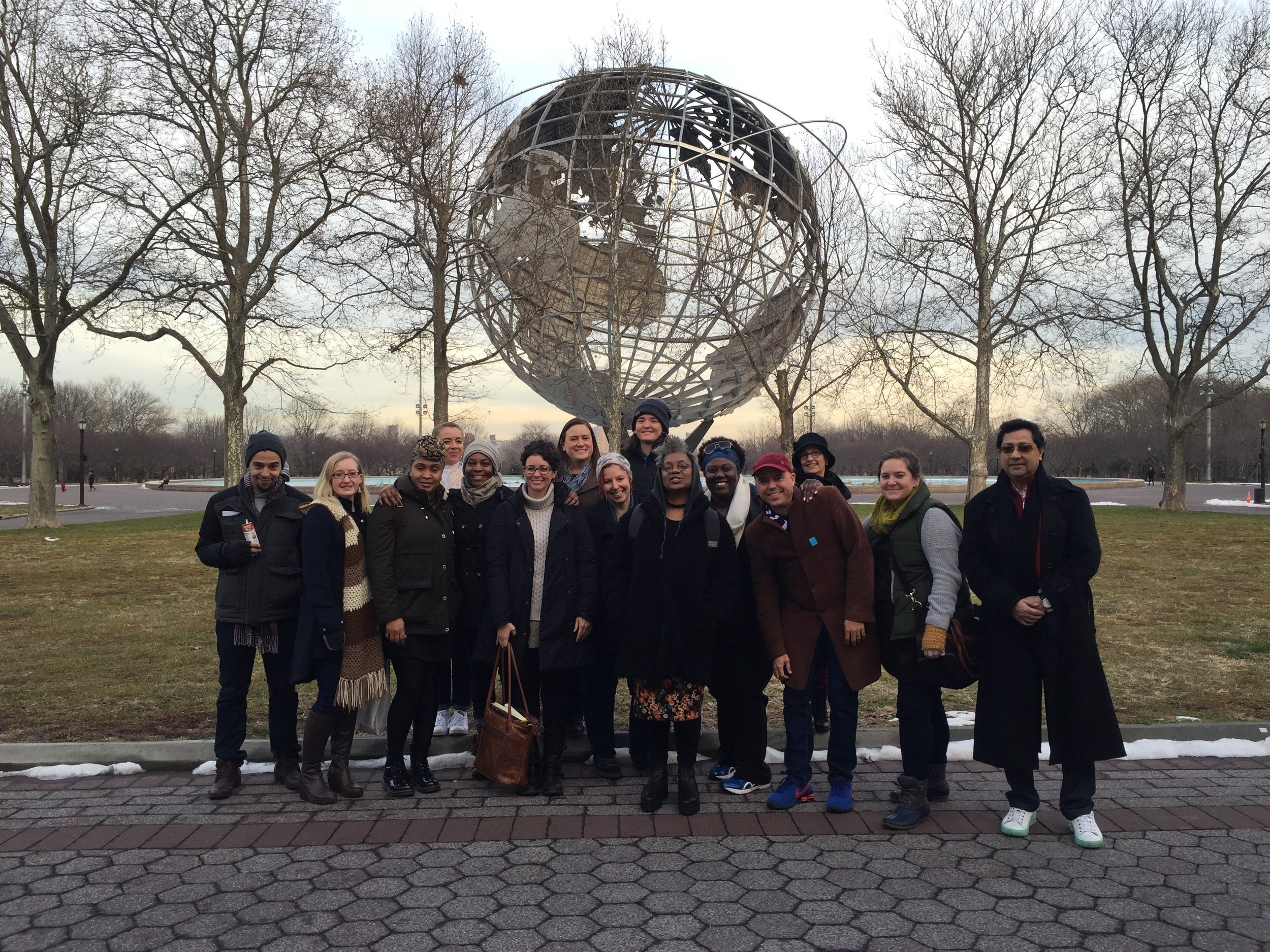IDSVA Students outside the Queens Museum, New York, January 2017. Photo by Simonetta Moro