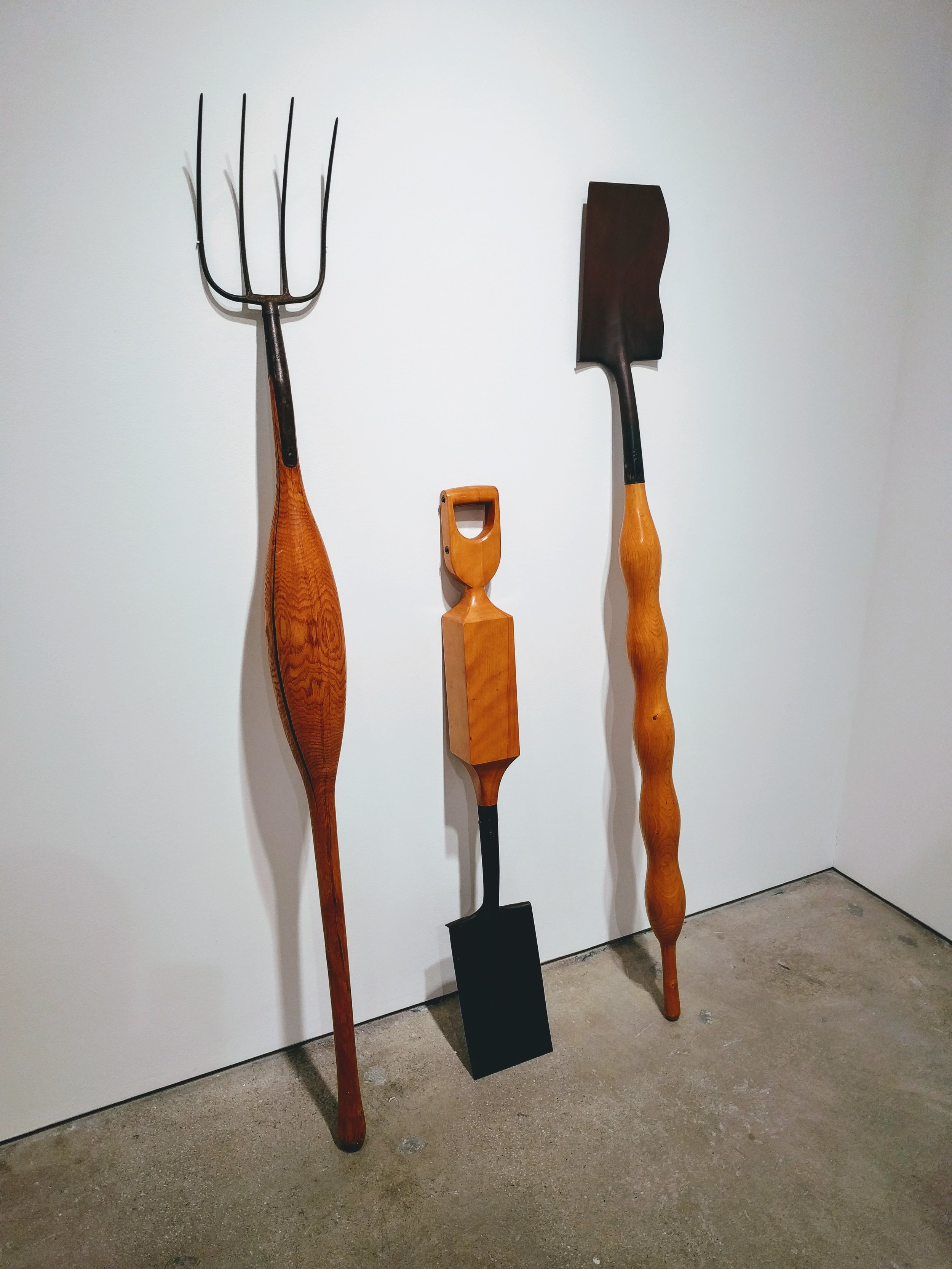 Pitchfork and Shovels , 1970, William Umbreit (Allan Stone Projects) Photo by Jonathan Morgan