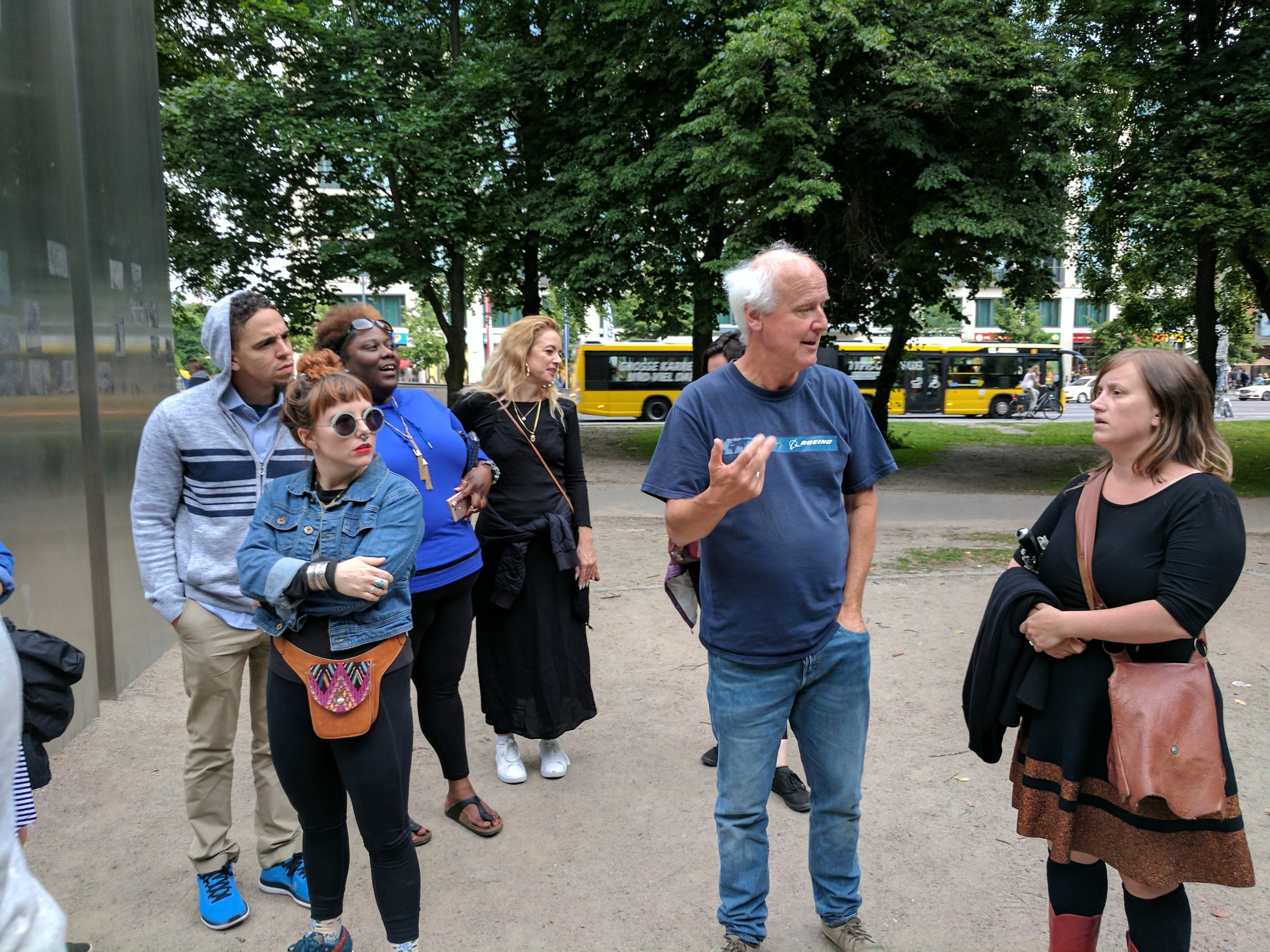 IDSVA students touring Berlin with Dr. Howard Caygill  Photo Credit: Jonathan Morgan
