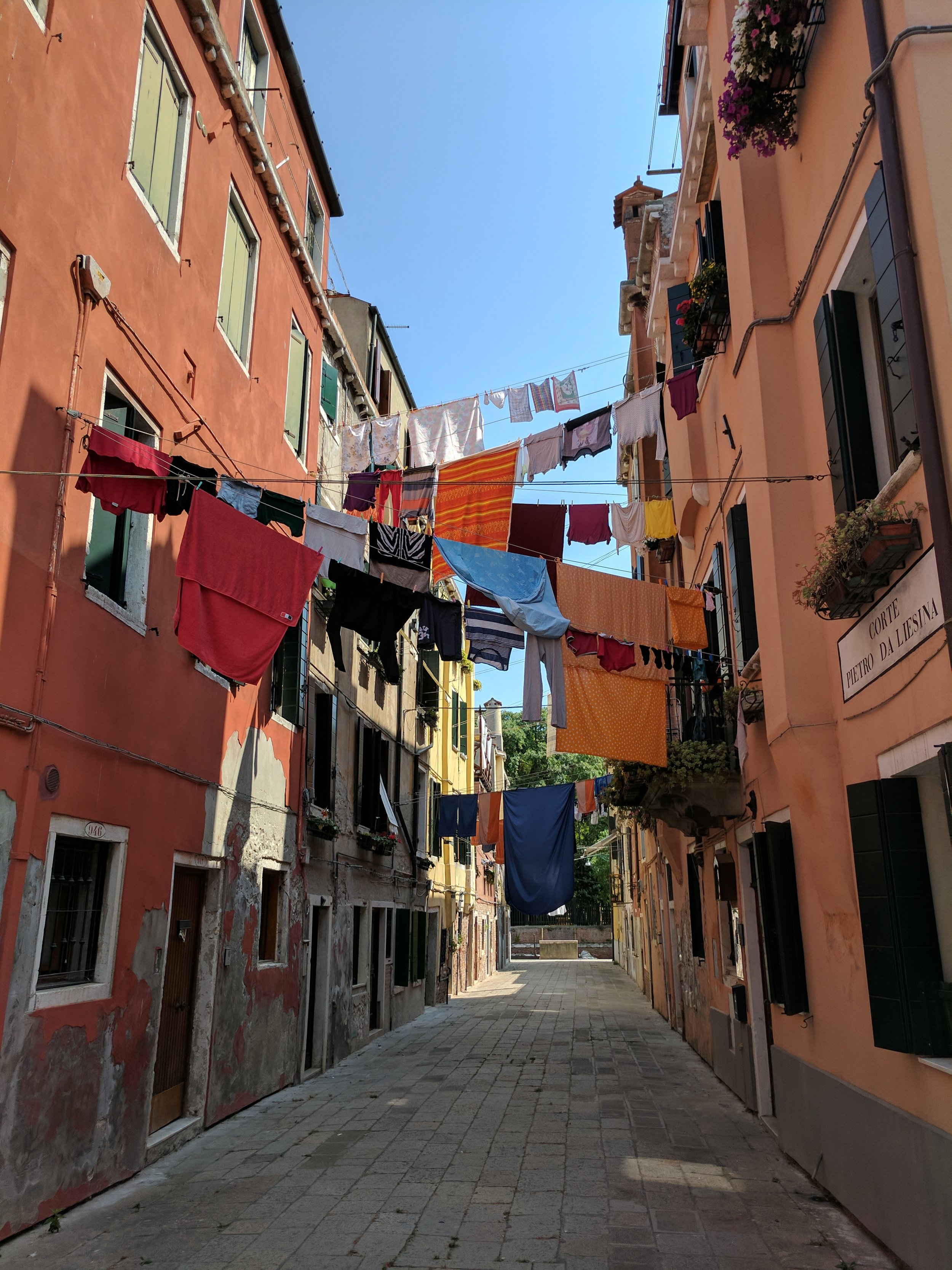 View of a Venetian Alley near Giardini della Biennale  Photo Credit: Jonathan Morgan