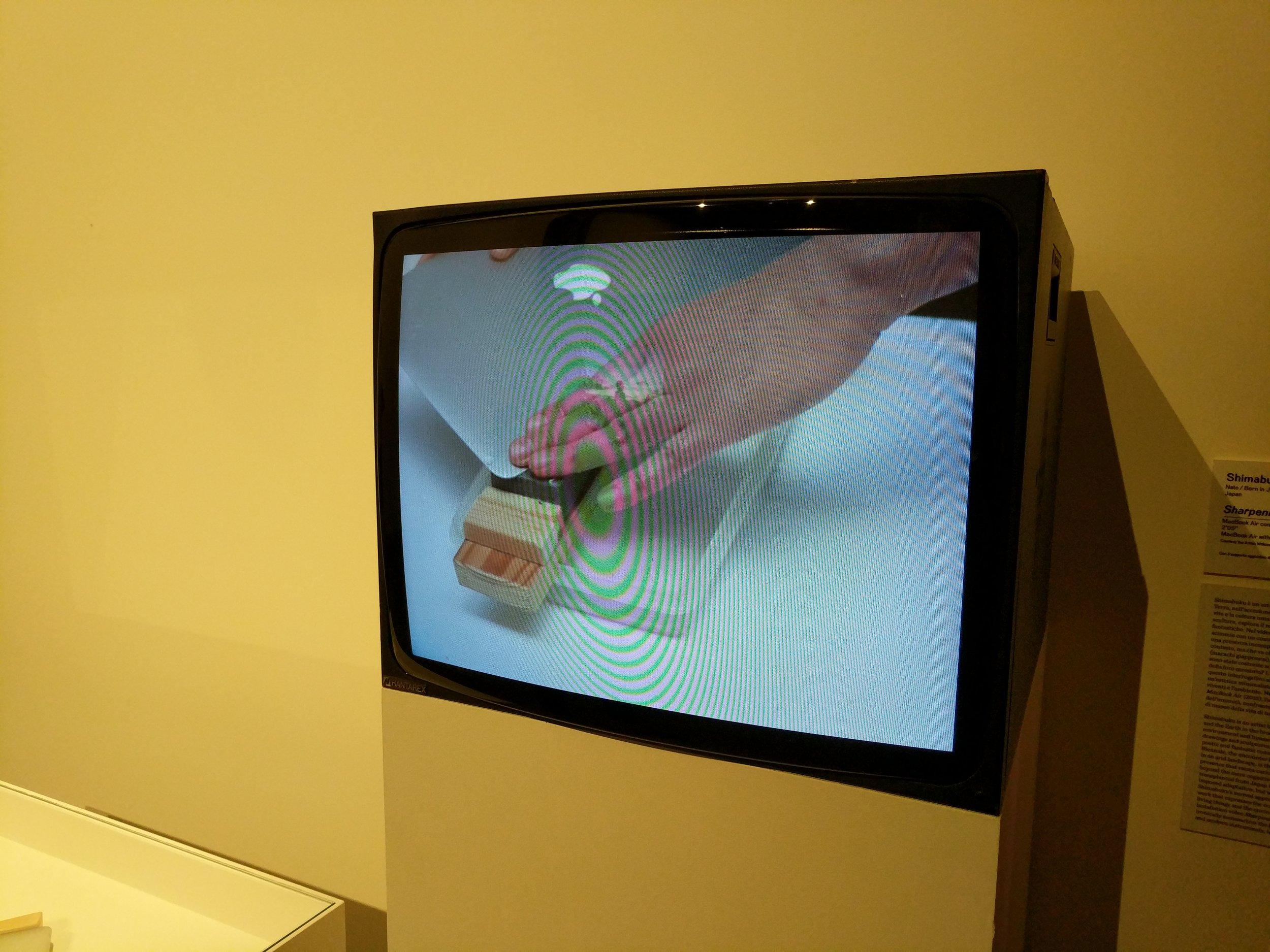 1  - Sharpening a Macbook Air by Shimabuku, 2015.jpg