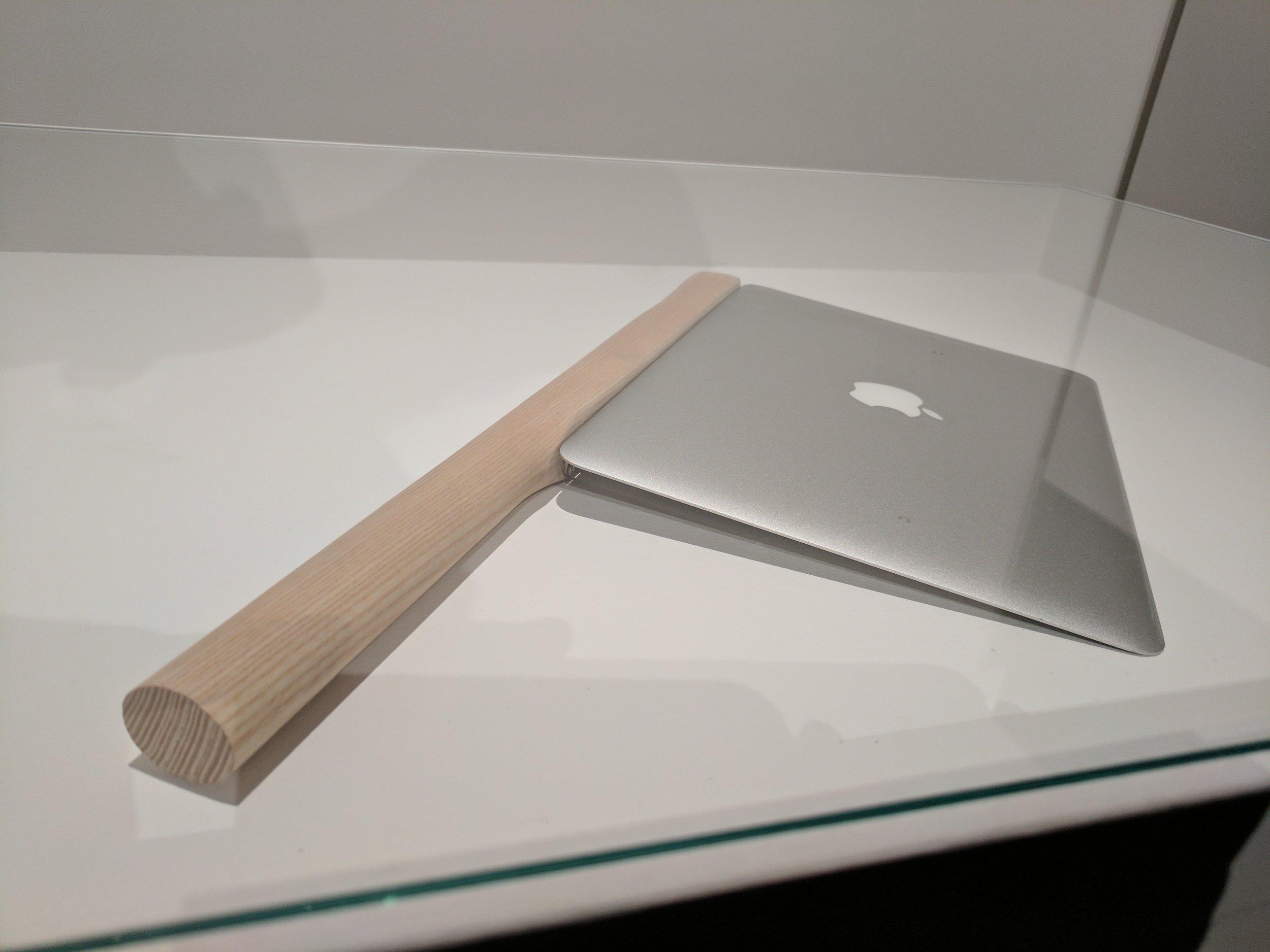 2  - Sharpening a Macbook Air by Shimabuku, 2015.jpg